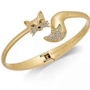 Kate Spade Foxy open hinge cuff bangle bracelets